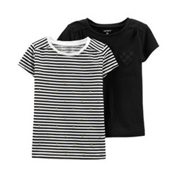 Toddler Girl          2-Pack Jersey Tees