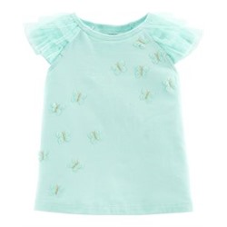 Toddler Girl          Butterfly Ruffle Top