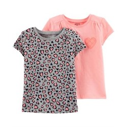 Toddler Girl          Neon 2-Pack Jersey Tees