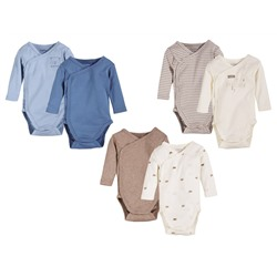 LUPILU® PURE COLLECTION 2 Baby Jungen Bodys / Wickelbodys