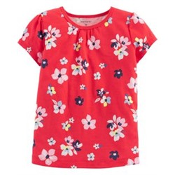 Toddler Girl          Floral Jersey Tee