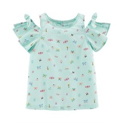 Toddler Girl          Butterfly Cold Shoulder Top